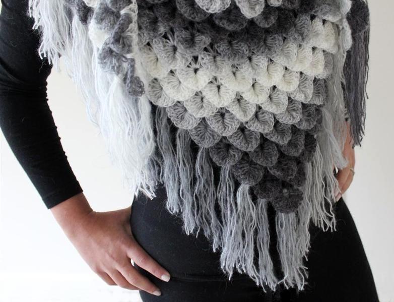 Crocodile Stitch Shawl pattern link - crochet | Knit & Crochet ...