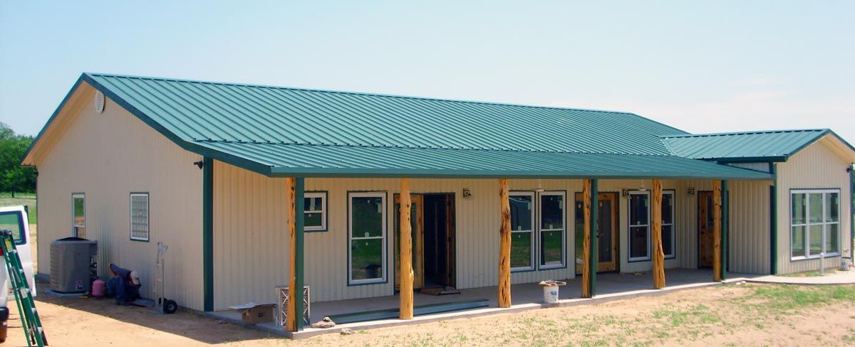Metal buildings with living quarters living quarter for Home building kits texas
