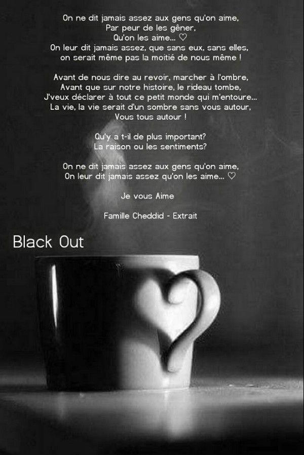 On Ne Dit Jamais Assez Aux Gens Qu'on Aime Qu'on Les Aime Paroles : jamais, assez, qu'on, paroles, Épinglé, Elfea, Elfie, Belles, Pensées..., Poesie,, Citation,, Pense