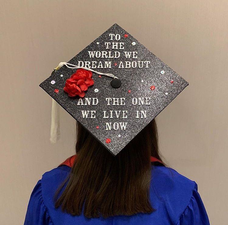 Hadestown Grad Cap Hadestown Graduation Graduationcap Waitforme Broadway Graduation Cap Designs Grad Cap Graduation Cap Decoration