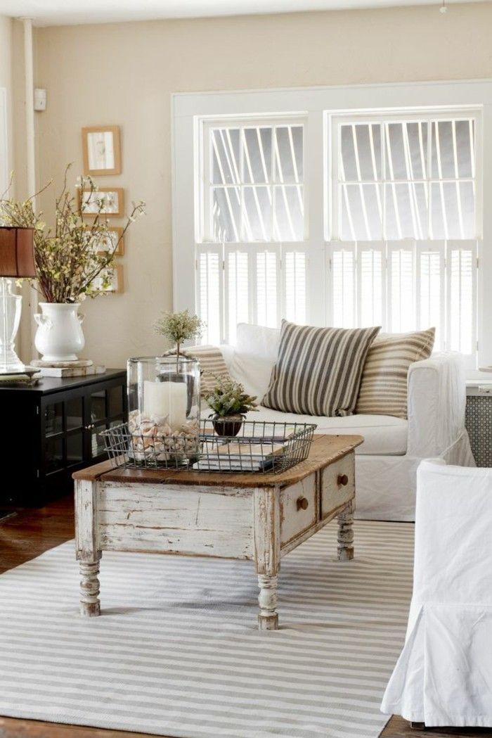 Cool Einrichtungsideen Wohnideen Wohnzimmer Vintage Streifenteppich