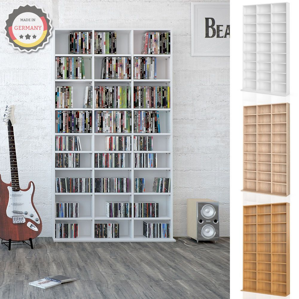 details zu vicco cd dvd bluray regal medienregal standregal regalwand b cherregal auswahl. Black Bedroom Furniture Sets. Home Design Ideas