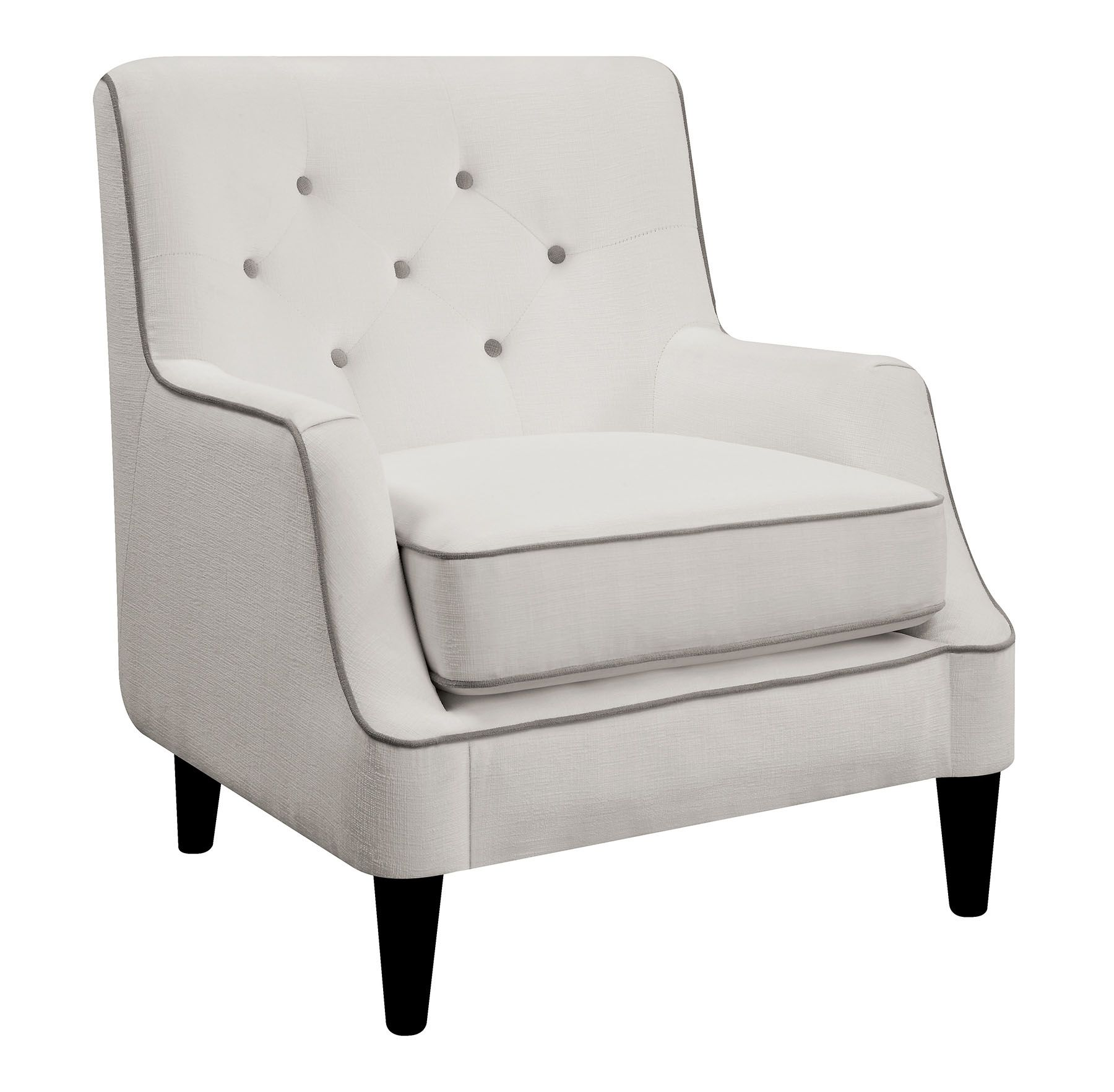 Donny Osmond Home 902895 White And Gray Fabric Accent Chair
