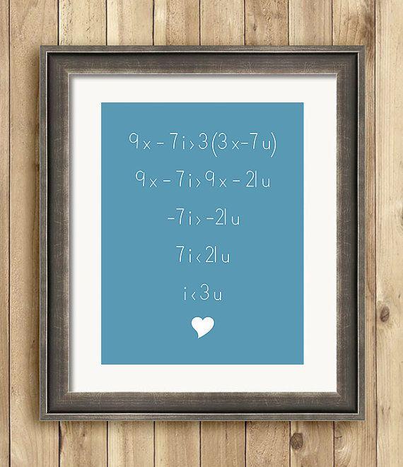 Love Equals Math Equals Love 8 x 10 art print by ScarletBlvd, $16.00 ...