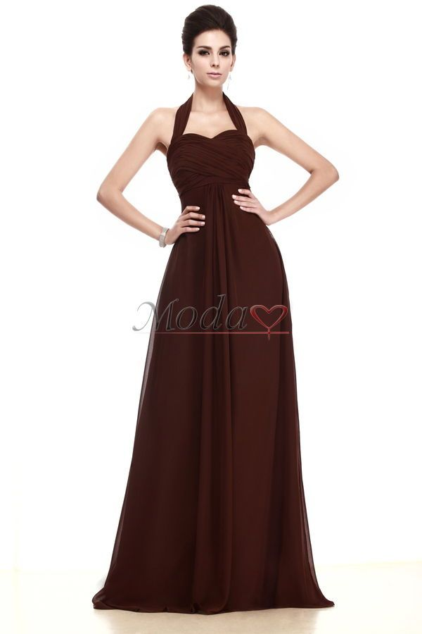 988d47003d Comprar vestidos de dama de honor de escote halter de volantes adorno de  playa de manzana de reloj de arena
