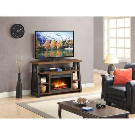 Whalen Industria Electric Media Fireplace For Tvs Up To 65 Brown Walmart Com Media Fireplace Home Fireplace