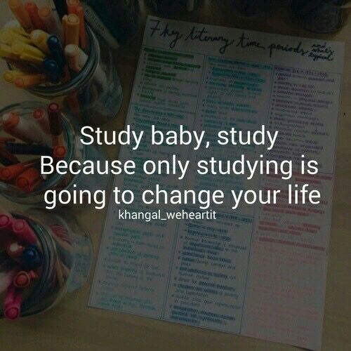 Study Baby Study Because Only Studying Is Going To Change Your Life Quote Hard Work Quotes Study Quotes Study Motivation Quotes