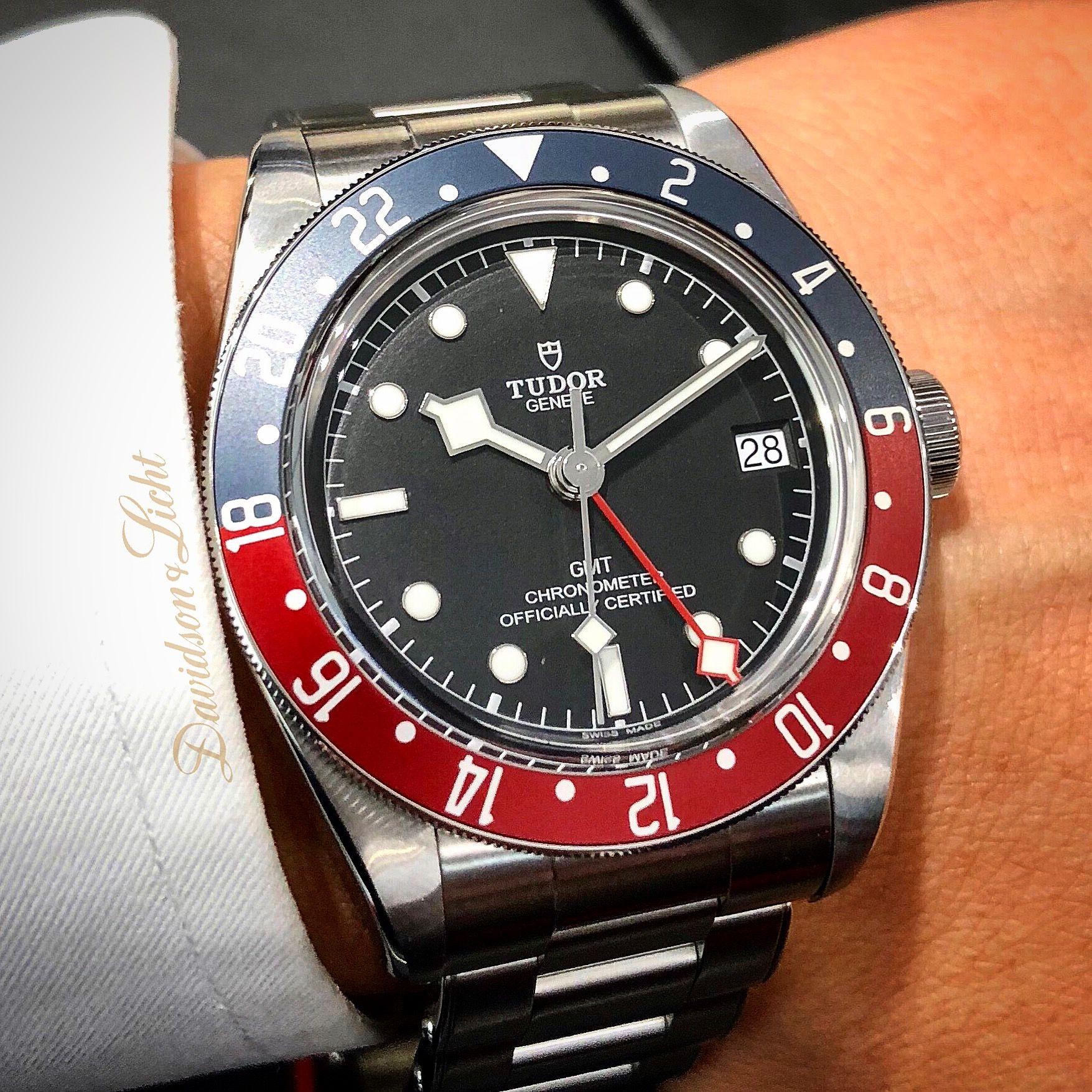 Tudor Black Bay Gmt Quot Pepsi Quot Bezel Automatic Watch M79830rb