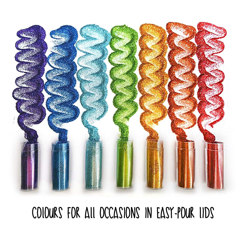 Original Stationery Arts And Crafts Glitter Shake Jars Extra Fine Glitter Stationery Art Jar Gifts