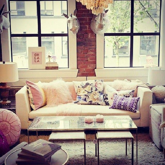Cozy City Luxury Life Livingroom Pillows Pinterest Loft Homedecor Decor Dreamhome Apartment Decor Home Living Room Home