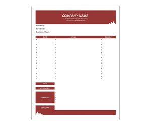 Monthly Expense Report Get This Free Printable Customizable