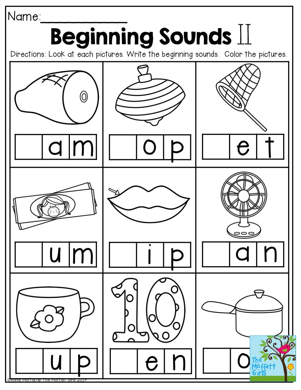 Printable Worksheets Beginning Letter Sounds In