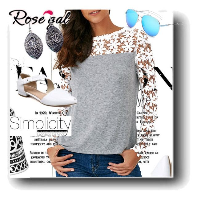 """Rosegal"" by snezanamilunovic ❤ liked on Polyvore"