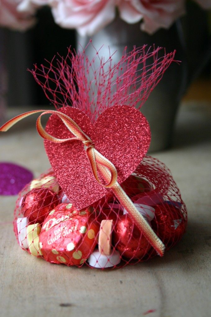 Valentine S Day Treat Bags Made From Mesh Grapefruit Packages Are