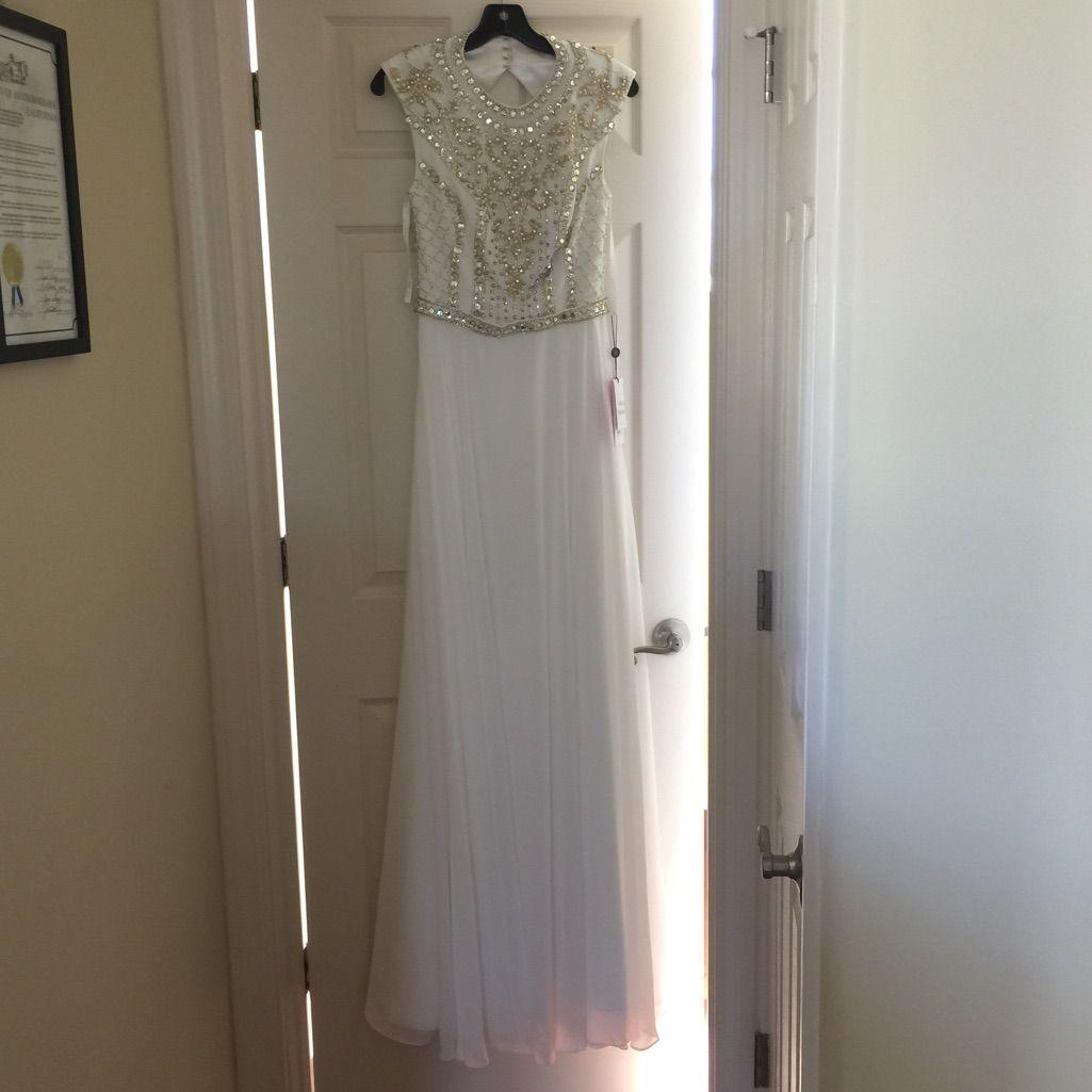 Brand New Jovani White Gown