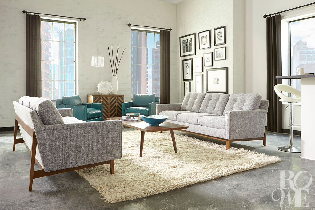 The Ethan Sofa By Rowe Mixes Both Traditional And Modern Styles With Its  Classic Tufted Back And Open Woodwork. Let This Piece Make A Statement In  The ...