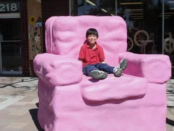 Captivating The Big Pink Chair In The Downtown Mesa Permanent Sculpture Collection