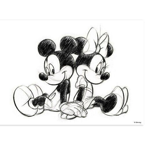 Disney Classics 'Mickey and Minnie Sitting' Photographic Print on Canvas   Wayfair.co.uk