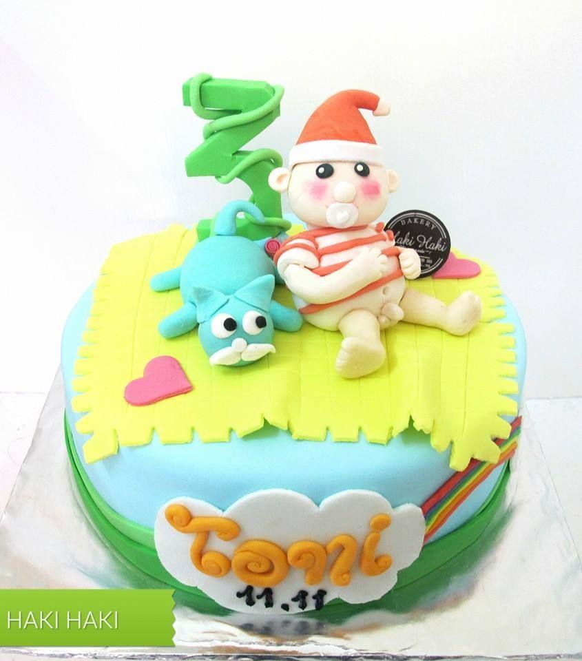 Fondant Birthday Cake Haki Haki Haki Haki Bakery Online Shop