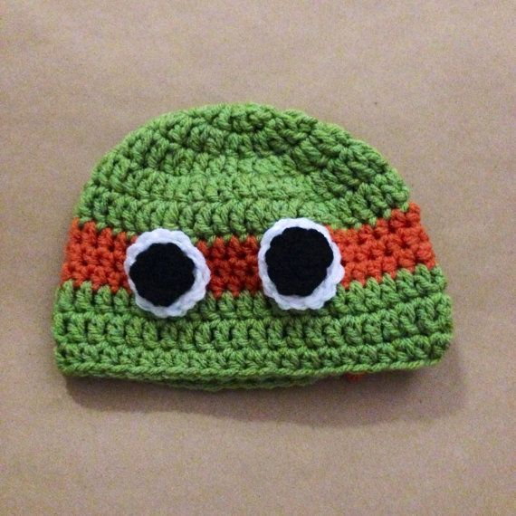 Ninja Turtle Beanie Orange by BabyRhee on Etsy