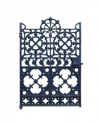 Ornate Antique Cast Iron Side Gate Uk Architectural Heritage