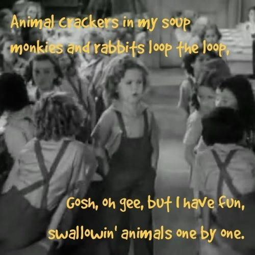 Animal Crackers Shirley Temple I Use To Wear Overalls And Dance To