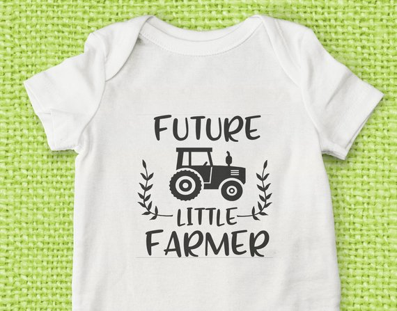 Future Little Farmer Baby Onesie Future Farmer Onesie Take Home