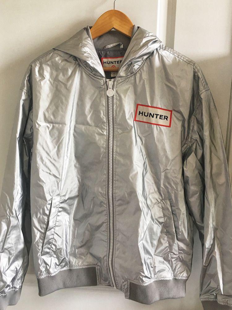 03baaff12 Details about Hunter for Target Men's Hooded Windbreaker Rain Jacket ...