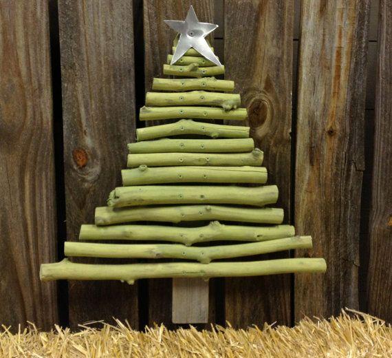 Wood Outdoor Christmas Tree Holiday Decor by SouvenirFarm on Etsy