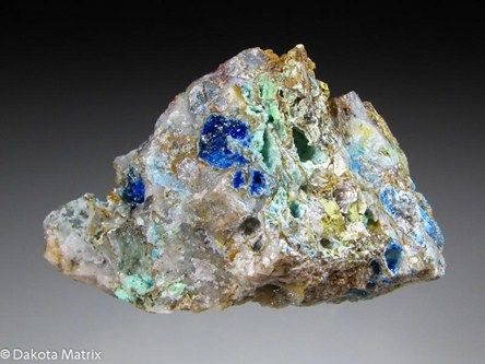 Linarite with Leadhillite / Brown Monster mine, Inyo Co., California, United States