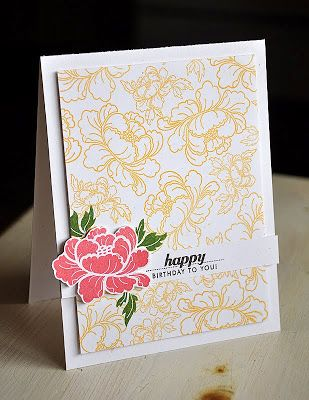 Simply Stamped Anniversary Set Pretty Peonies Handmade Cards