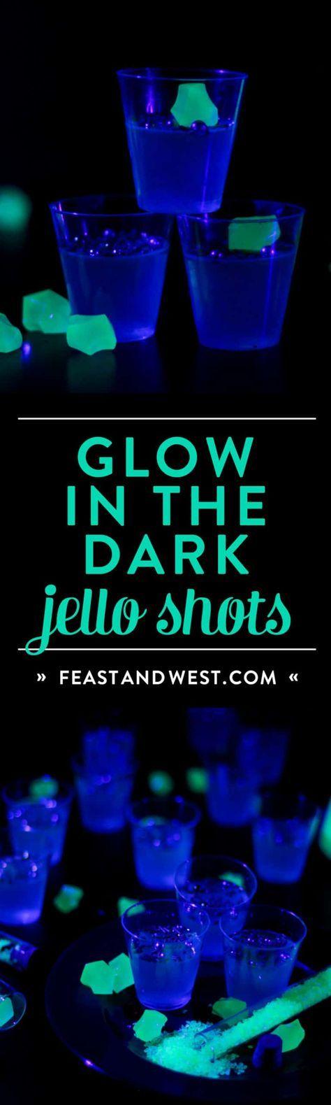 Party glow in the dark jello shots 41 super Ideas #jelloshotsvodka