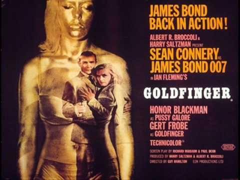 James Bond Soundtrack Goldfinger Theme Youtube Sean Connery