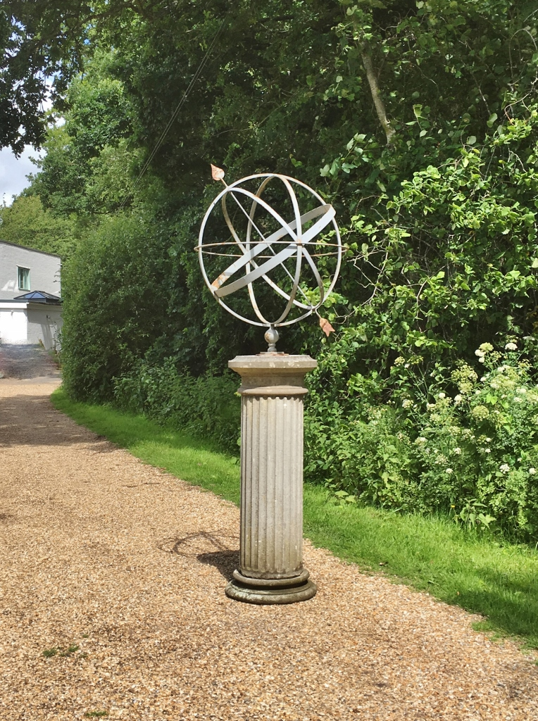 Large Armillary And Stone Column In Sundials And Armillaries From The Vintage Garden Company In 2020 Stone Columns Vintage Garden Stone
