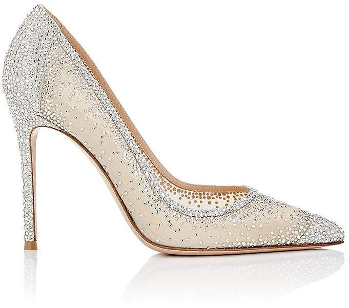 Eastbay Cheap Online Extremely Womens Rania Mesh & Suede Pumps Gianvito Rossi Cheapest Sale Online atHDABBTl