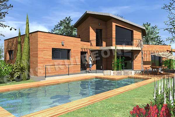 plan de maison etage moderne BAHIA piscine2_2 plans maisons