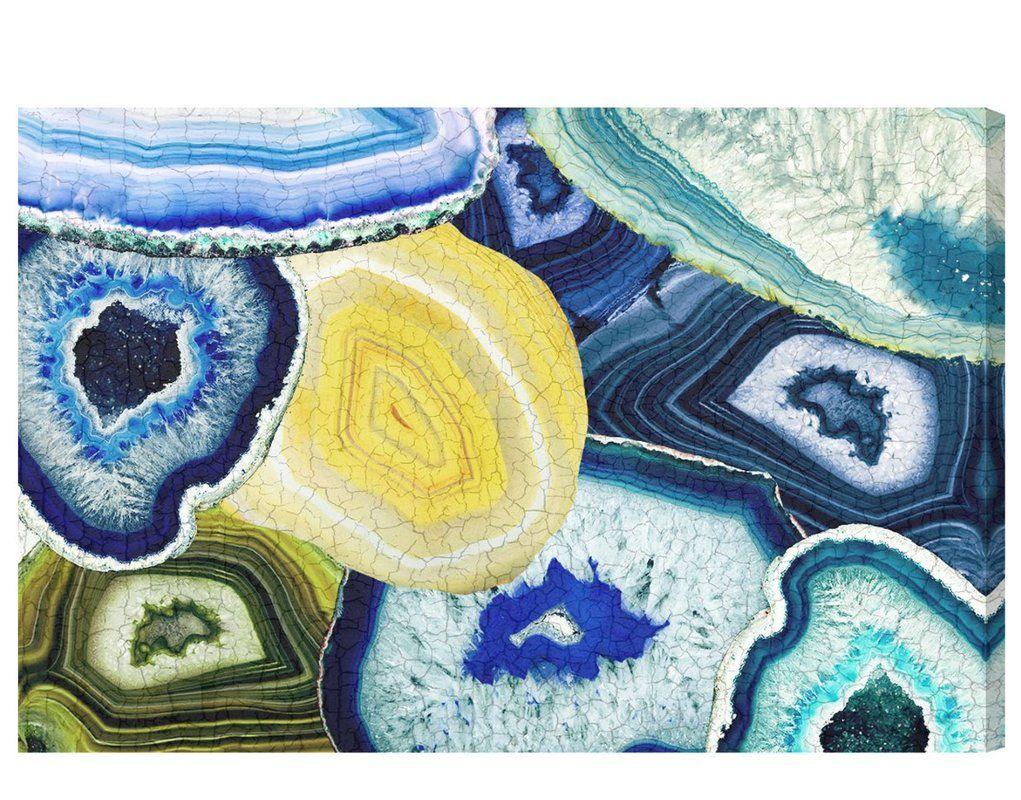 blue canvas wall art australia