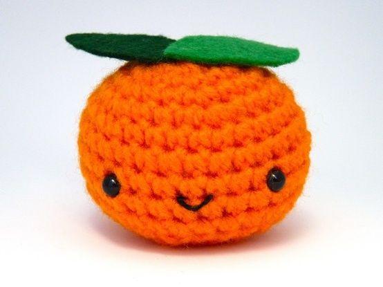 Crochet Orange Clementine. | Crochet | Pinterest