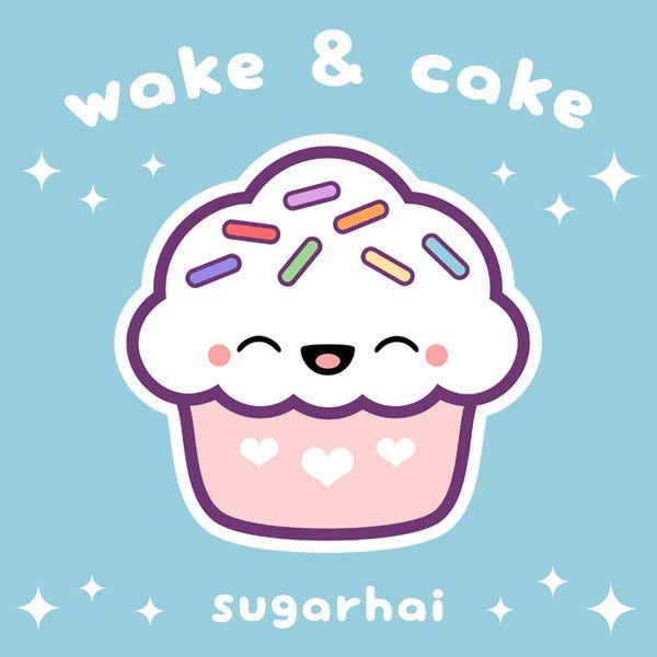 Cute Pink Cupcake With Rainbow Sprinkles Wake Cake Cute Kawaii Drawings Cute Doodles Cute Animal Drawings Kawaii