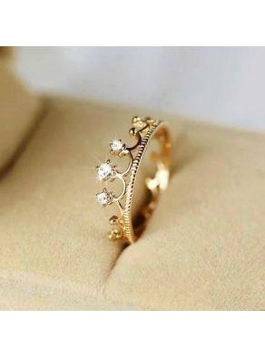 Fabulous Crown Rhinestones Finger Ring