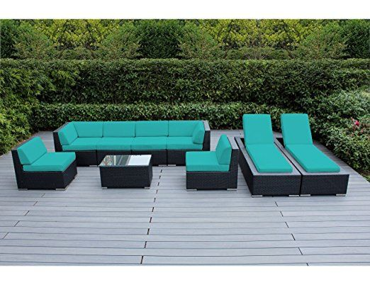 free cover wicker square ohana amazon set dp patio with all outdoor com furniture weather dining