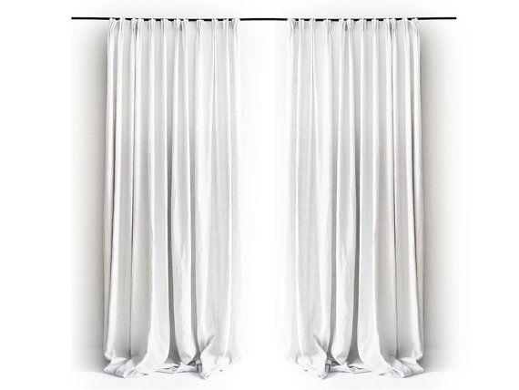 Curtain Pinch Pleat Curtains Linen Drapes Blackout Curtain Day