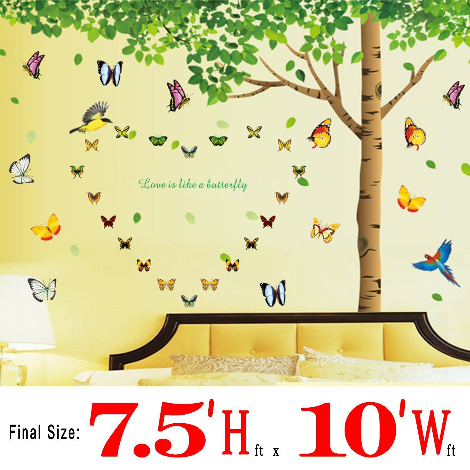 Colorful-decals__ 7.4\'(h) X 9.7\'(w) More Attachments for Butterflies ...
