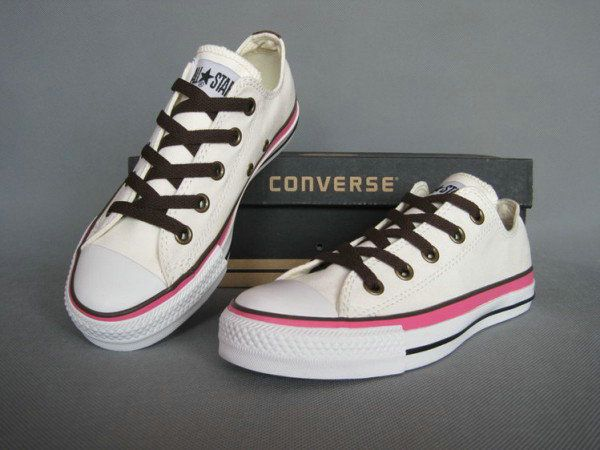 Converse Chuck Taylor All Star Japan Style White Embroidery Shoelace Low Top  Canvas Shoes