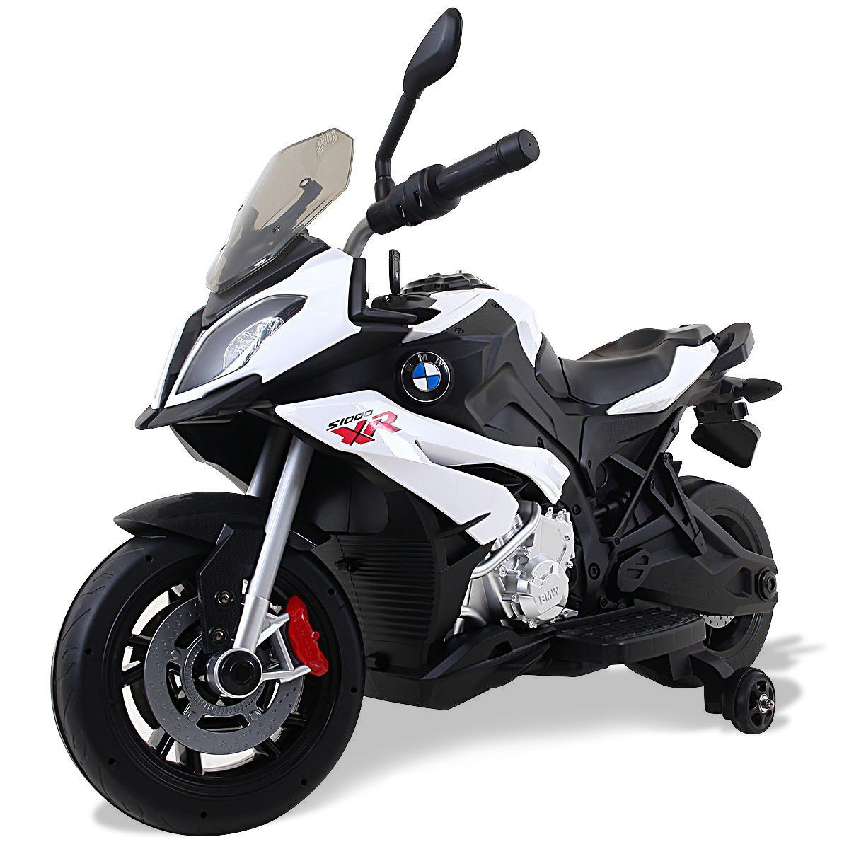 Bmw 12 V Battery Powered Kids Riding Motorcycle W Training Wheel