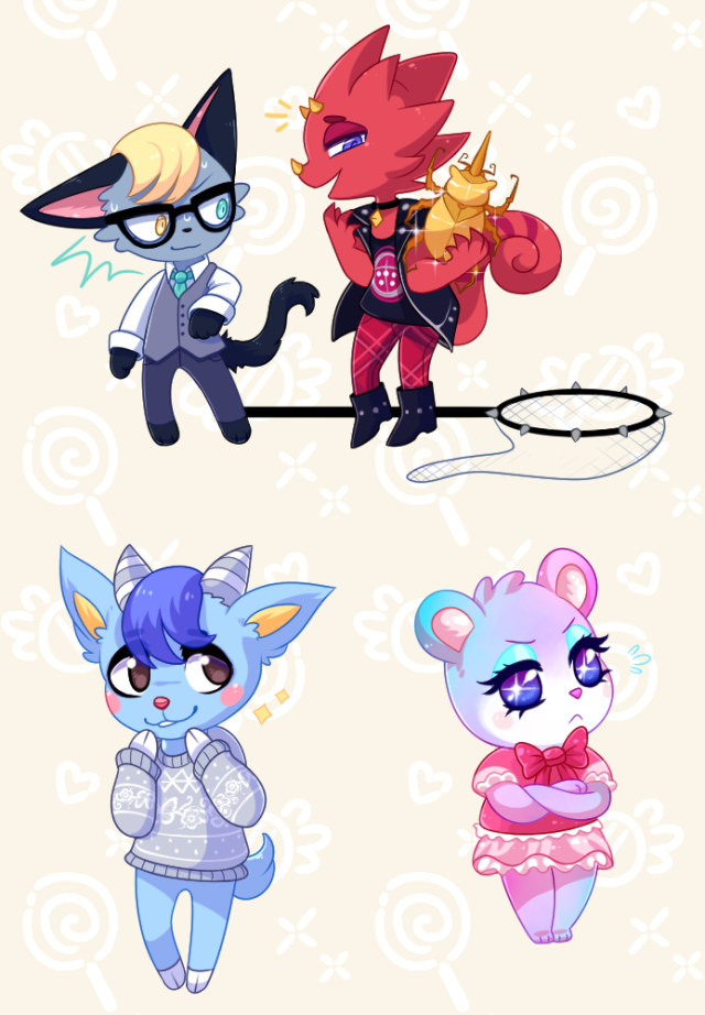 Shiorimia The New Villagers Flick Are Cyoot We Have Business Cat Carebear Amp La In 2020 Animal Crossing Fan Art Animal Crossing Game Animal Crossing Characters
