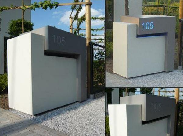 Briefkasten aus Edelstahl 22 minimalistische Designs