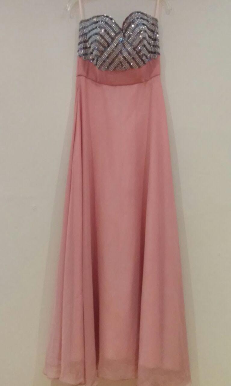 Vestido de noche color rosa viejo  fc8abfa58c4f