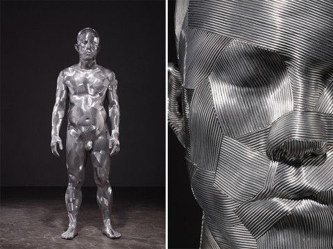 Aluminum wire sculptures by Seung Mo Park - Lost At E Minor: For creative people