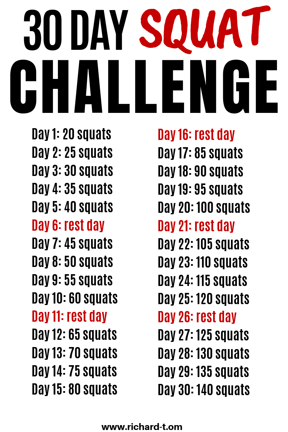 30 Day Squat Challenge That'll Transform Your Butt